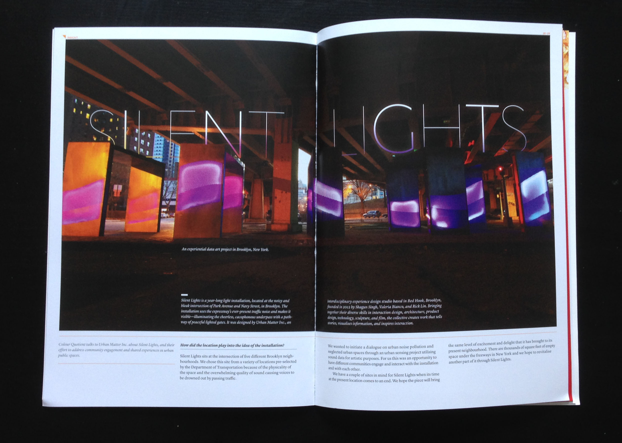 Silent Lights on Issue 16, Colour Quotient by Asian Paints